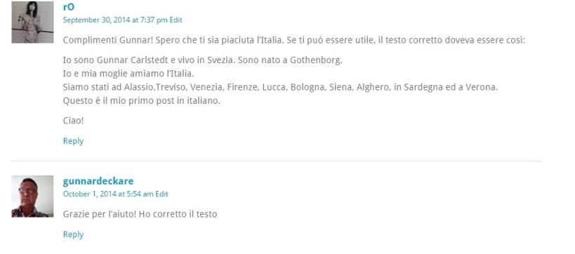 kommentar italienska