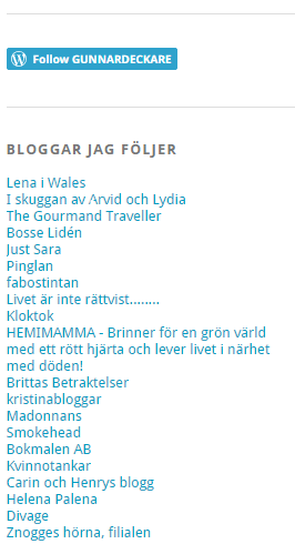 Följer blogg