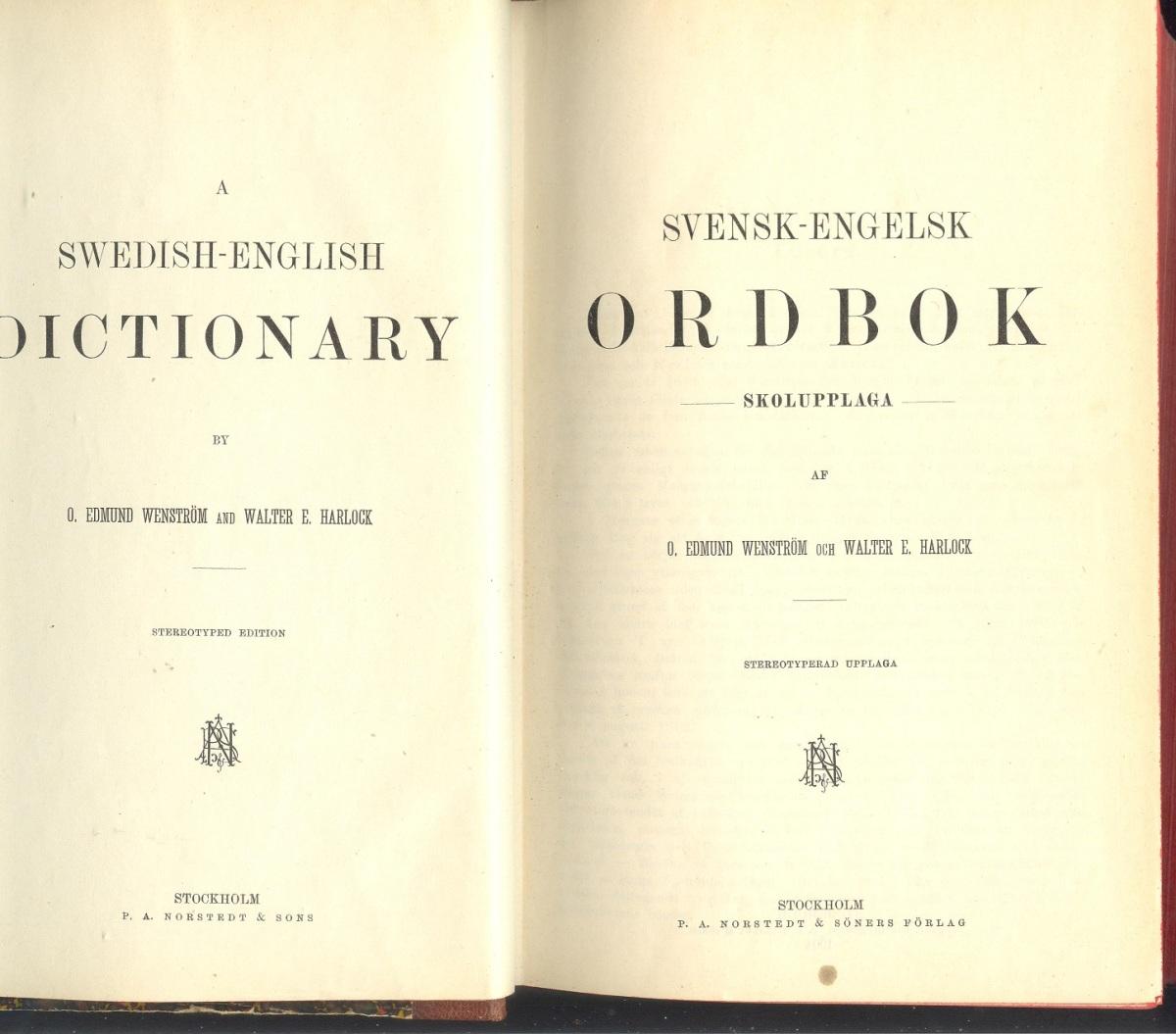 ordbok engelska