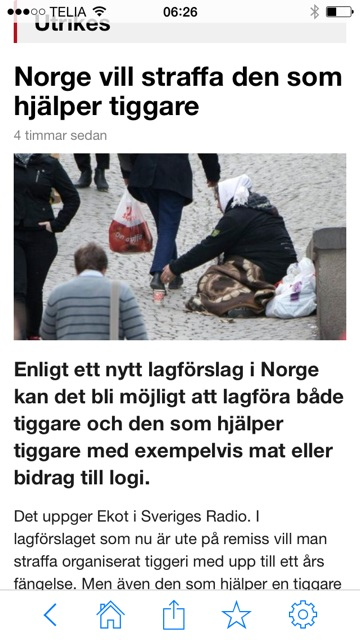 Tiggare Norge