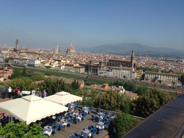 utsikt från Piazzale Michelangelo