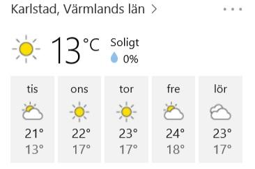 19 juli väder